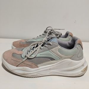 Thick sole suade sneakers. Yeezy like dad shoe